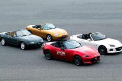 Alle generaties Mazda MX-5 (1989-2014)
