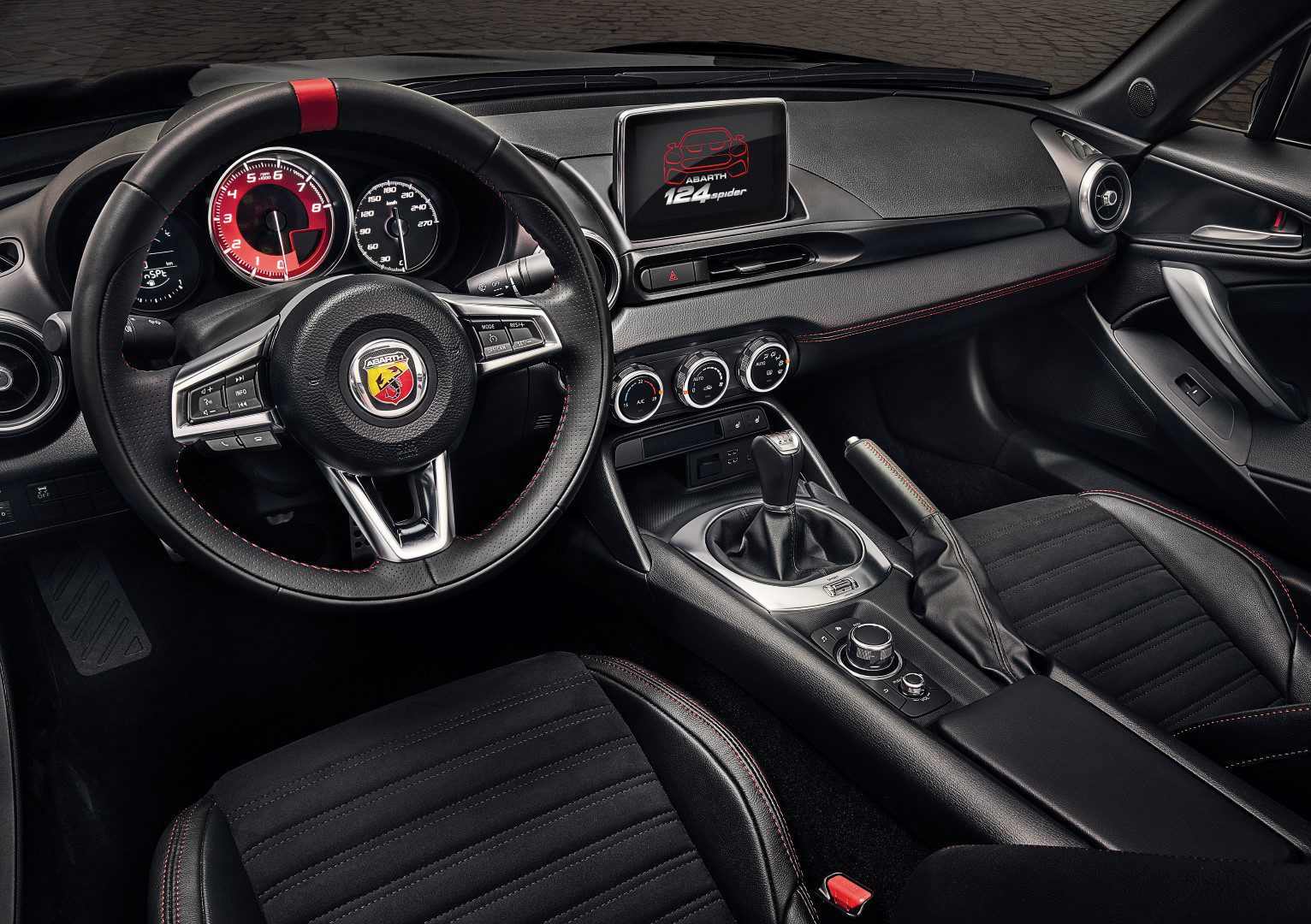 paint it black abarth introduceert 124 spider scorpione. Black Bedroom Furniture Sets. Home Design Ideas