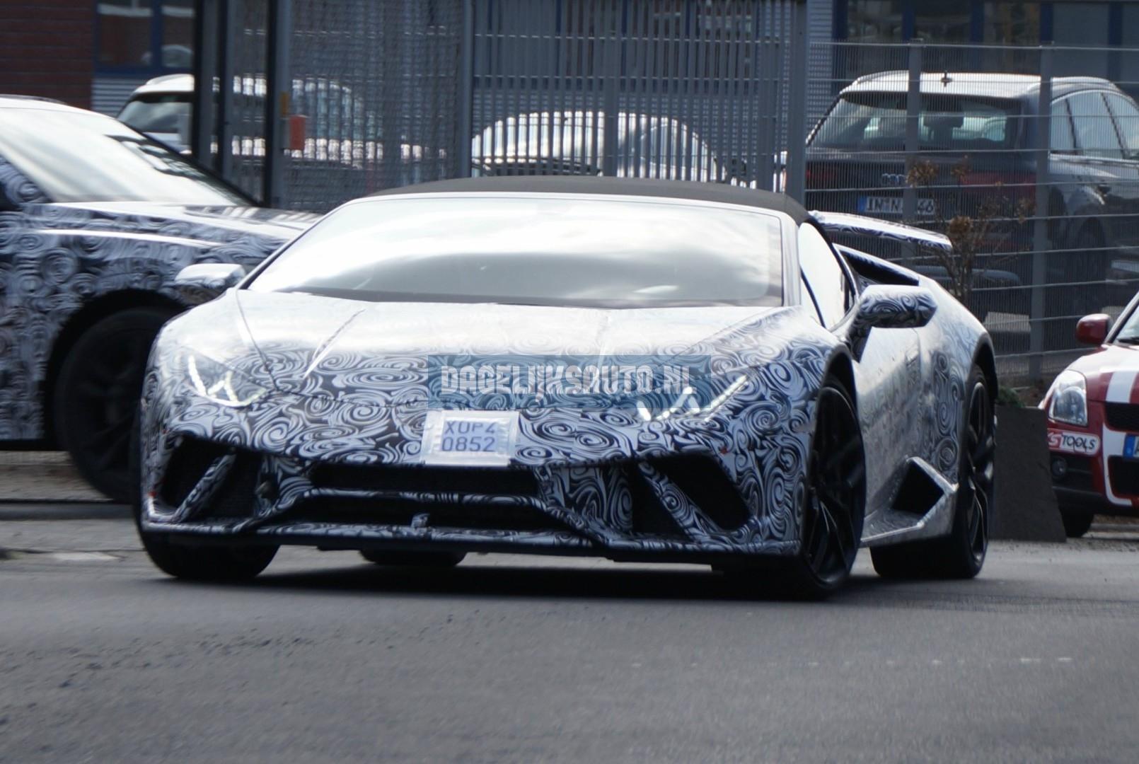 Spionage: Lamborghini test Huracán Spyder Performante - Dagelijksauto ...