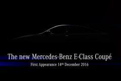 Mercedes-Benz E-Klasse Coupé 2017 (teaser) (4)