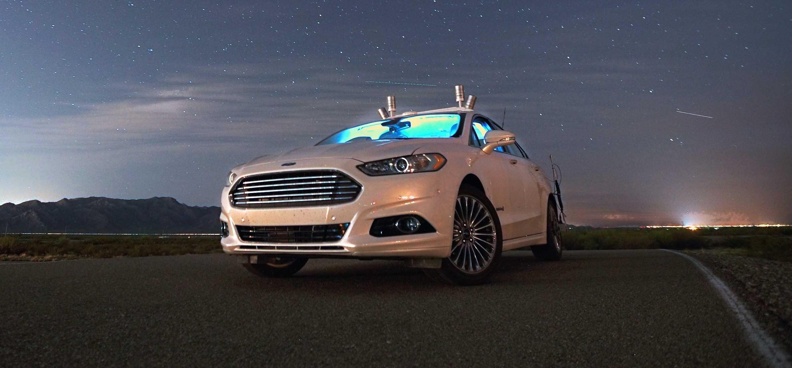 Ford Fusion Hybrid autonoom LiDAR 2016
