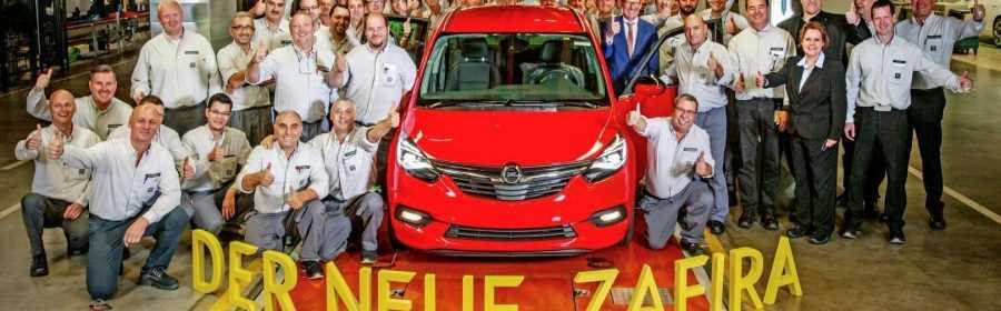 Opel Zafira 2016 (productiestart)