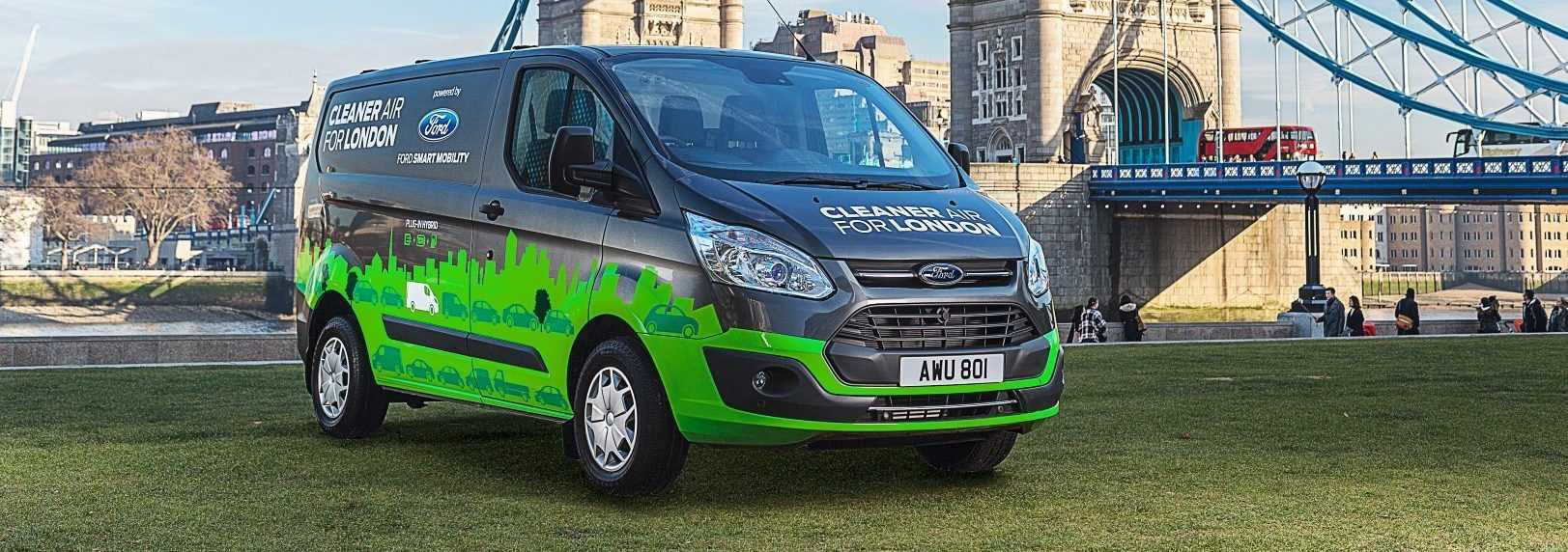 Ford Transit Custom PHEV 2017 (Londen test)