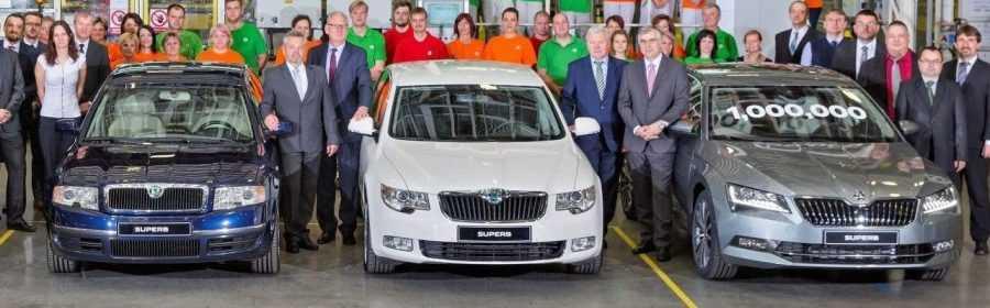 1 miljoenste Škoda Superb 2017