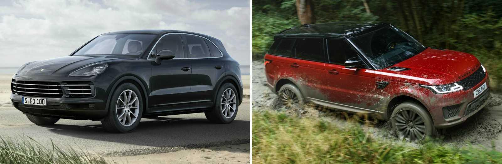 Porsche Cayenne vs. Range Rover Sport 2018 (vergelijking)
