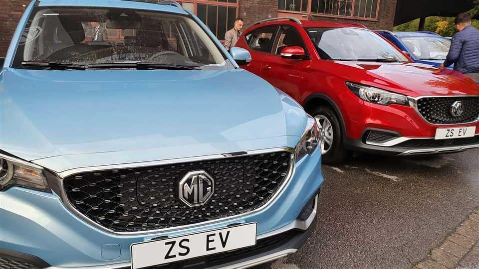 MG ZS EV exterieur kleuren