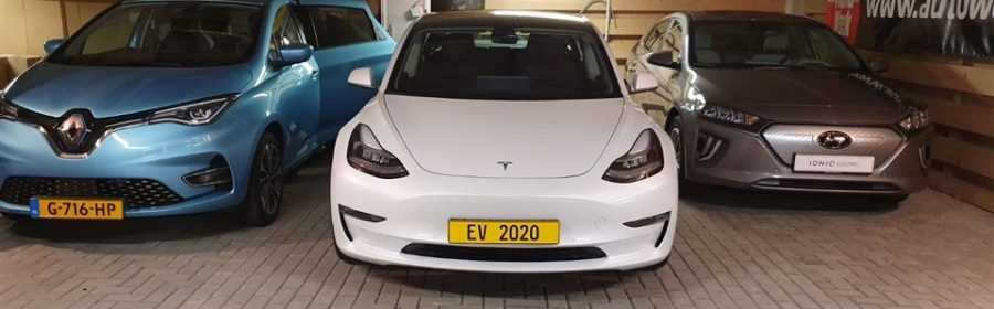EV van het Jaar 2020 Tesla Model 3