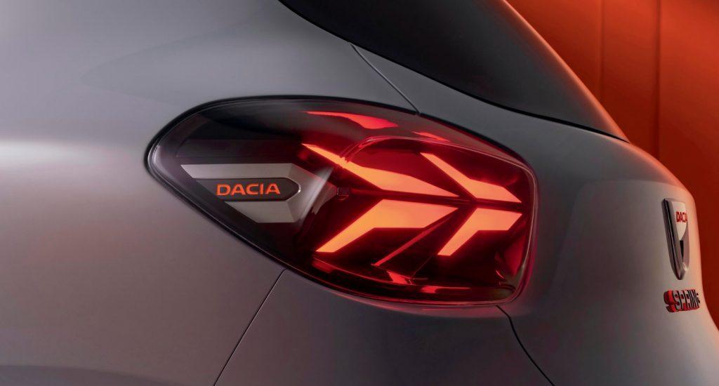 Dacia Spring achterlichten