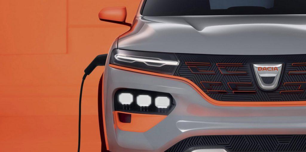 Dacia Spring ledkoplampen