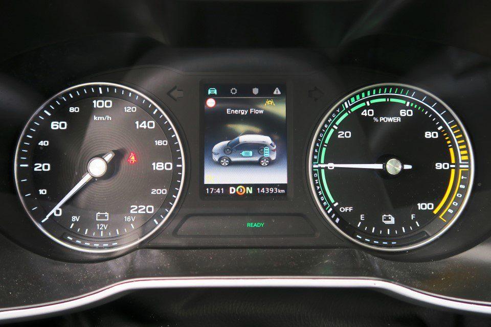 Dashboard MG ZS EV