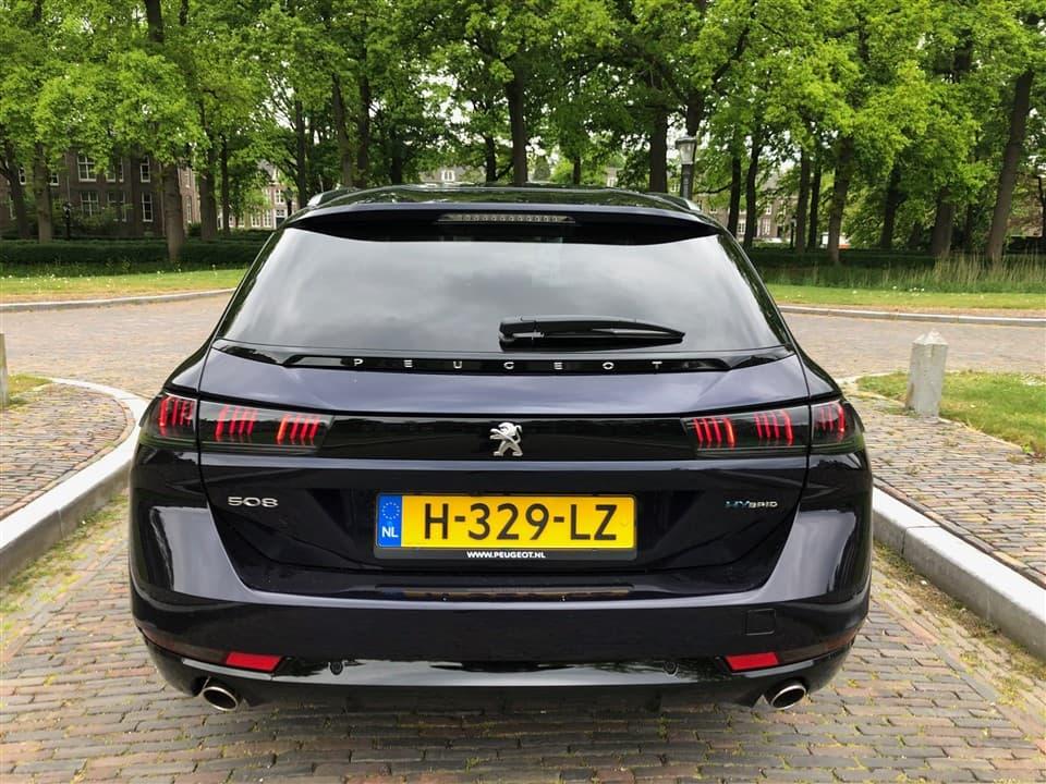 Rijtest Peugeot 508 HYbrid achterkant