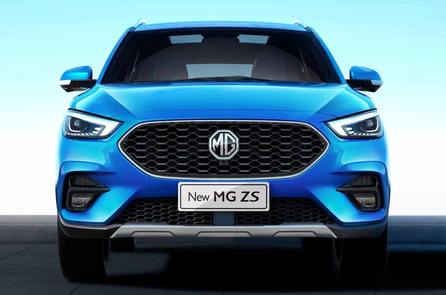 nieuwe MG ZS EV in Ford blauw...