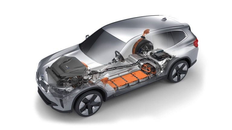 Aandrijflijn van de BMW iX3