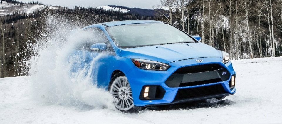 Ford Focus RS Sneeuw