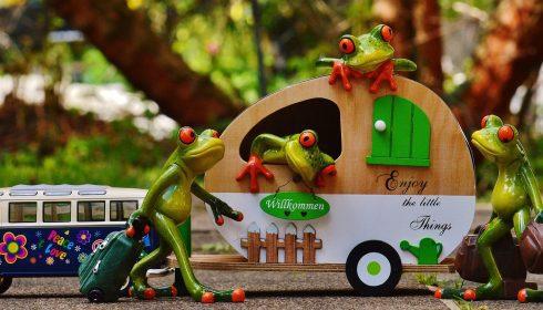 Caravan op vakantie