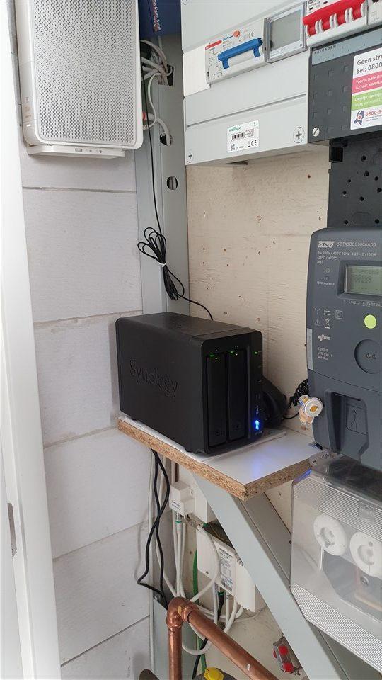 Synology DS718+ in de meterkast