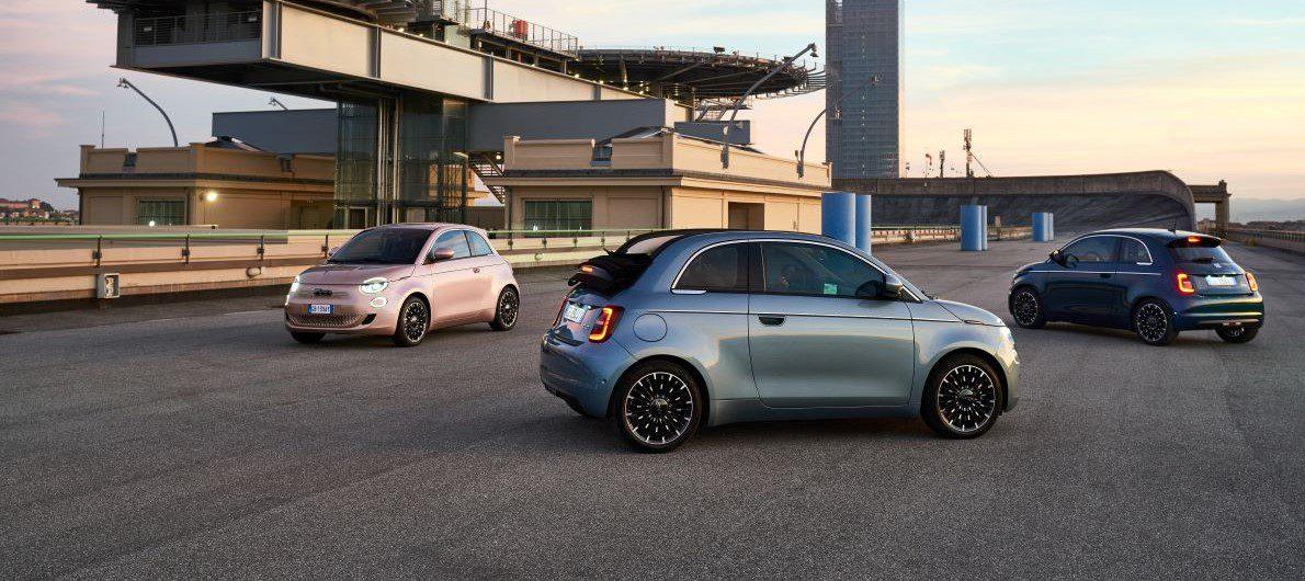 Fiat 500e trio