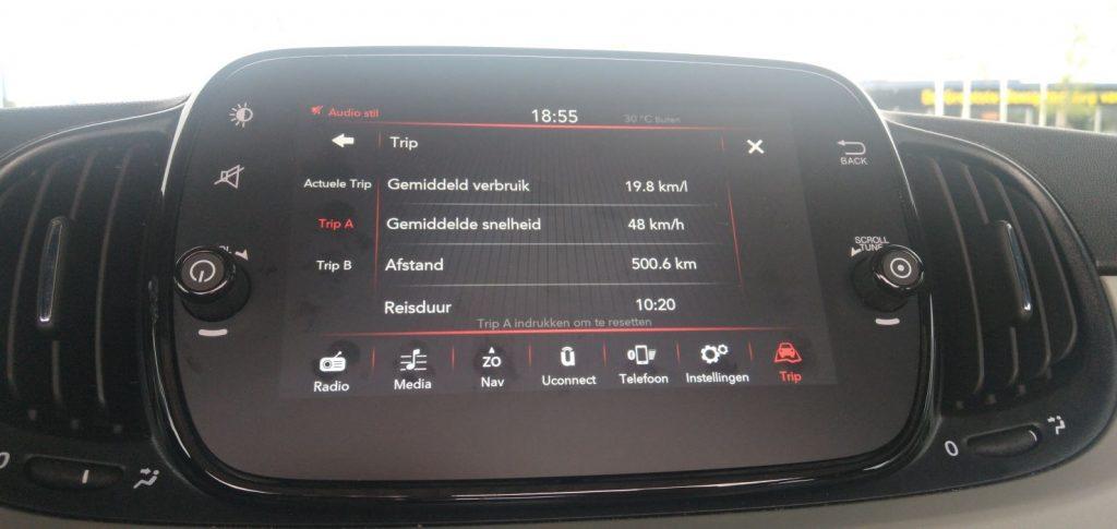 Fiat 500 multimediasysteem