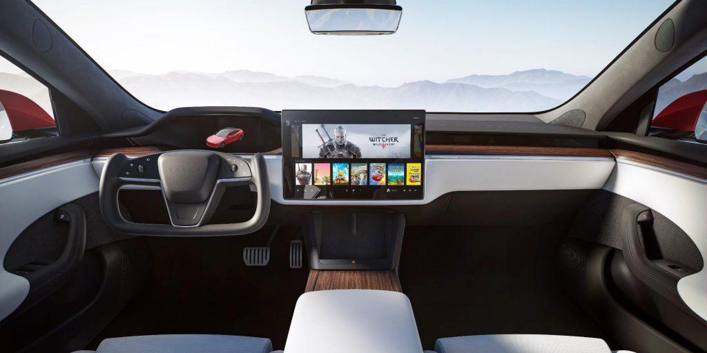 Tesla Model S interieur stuur