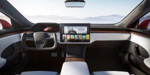 Tesla Model S 2021 facelift interieur