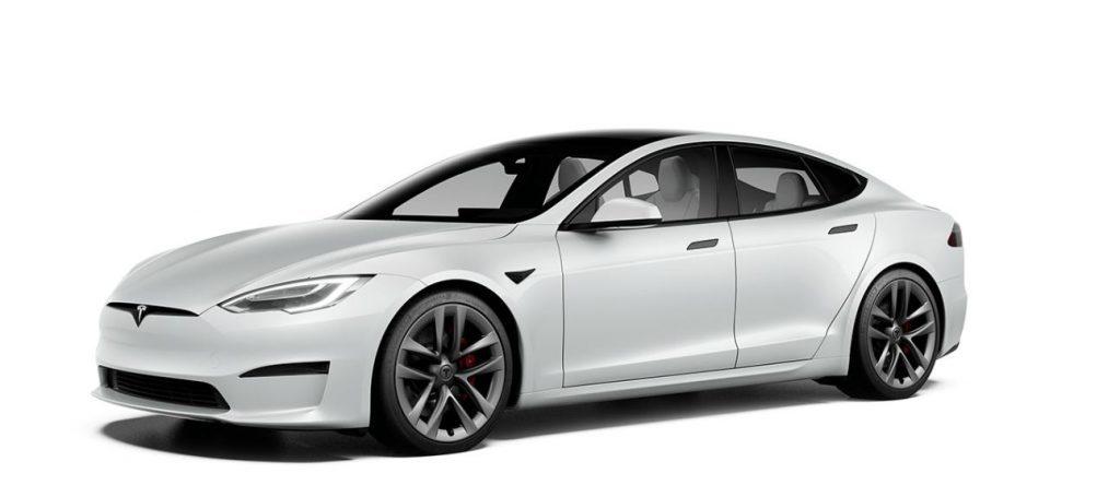 standaard Tesla Model S in het wit