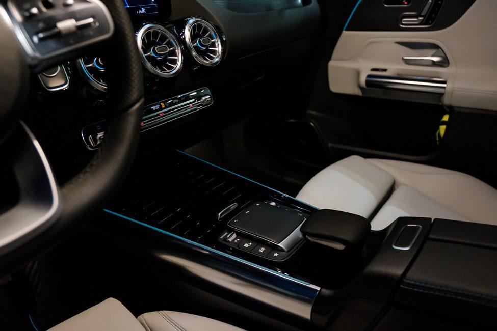 middenconsole Mercedes EQA