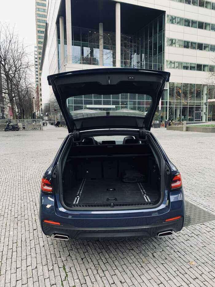 rijtest BMW 530d bagageruimte