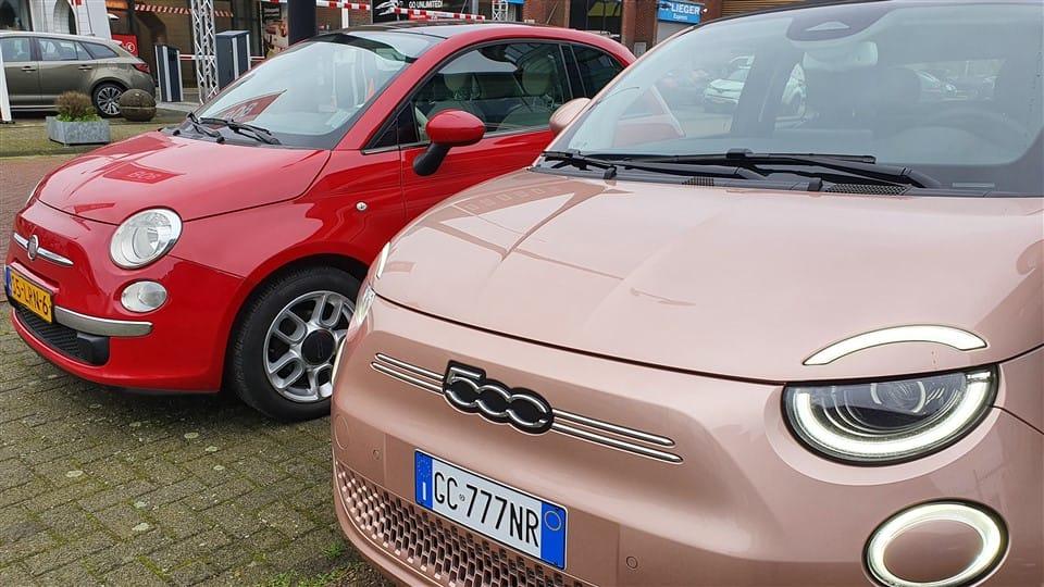 test Fiat 500e oud en nieuw