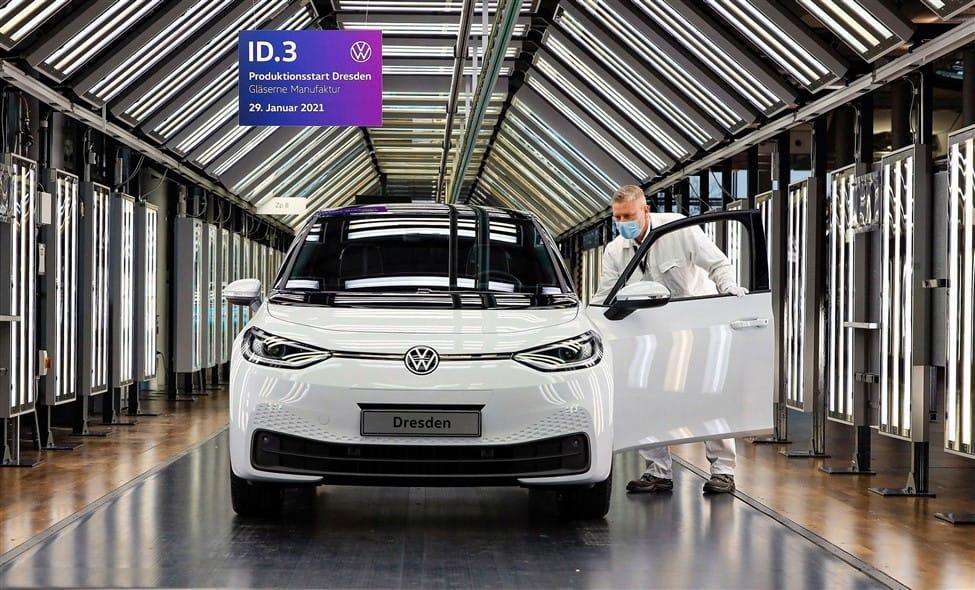 Auto verkoopcijfers januari 2021 Volkswagen ID.3 wit