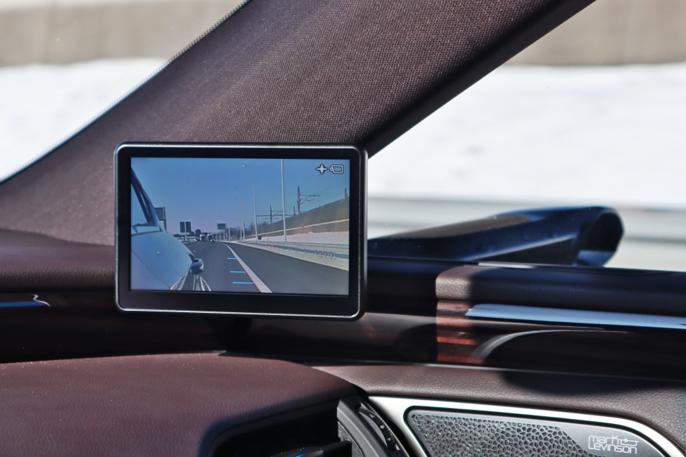 Lexus ES300h digitale spiegel scherm rechts