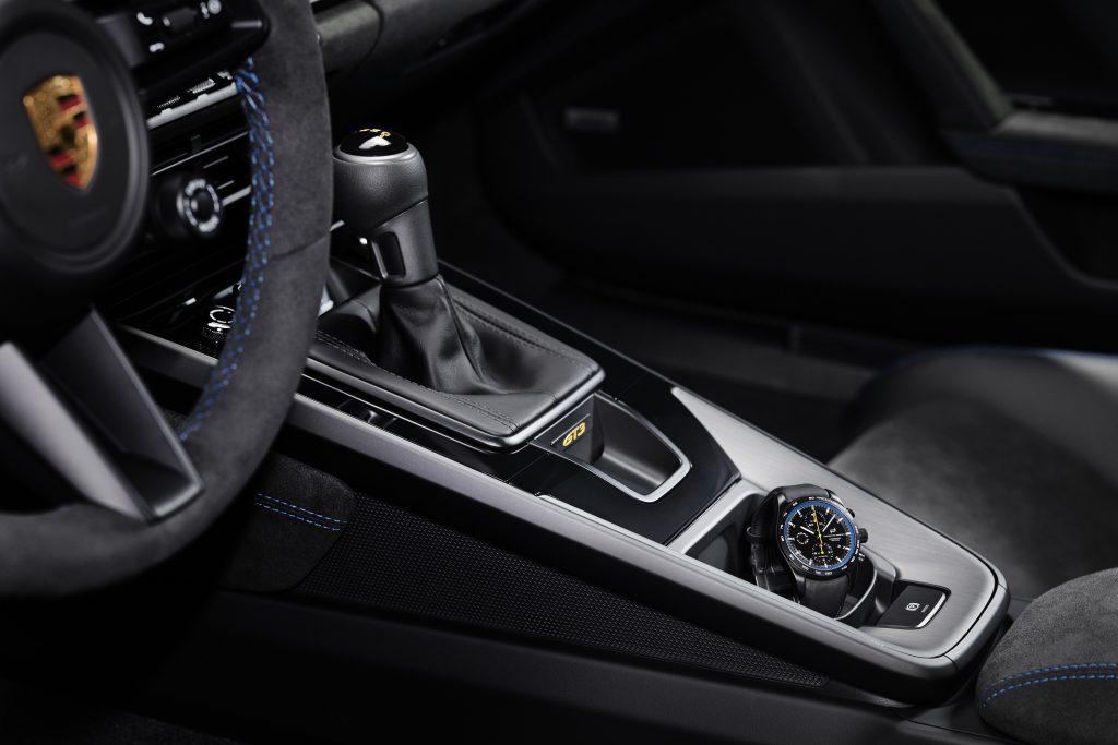 GT3 versnellingsbak en horloge