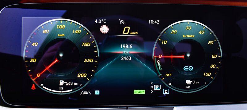 Helder en duidelijk scherm in de Mercedes E-Klasse