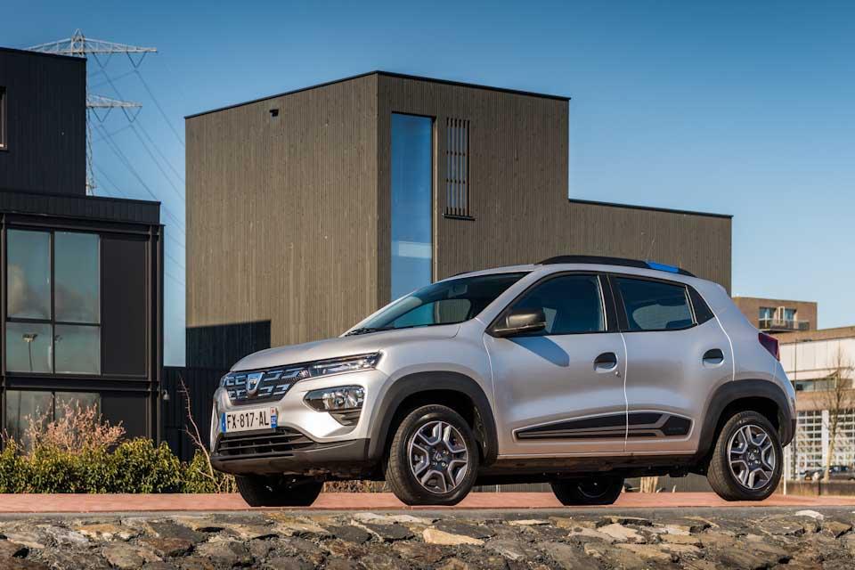 Dacia Spring Electric in de stad