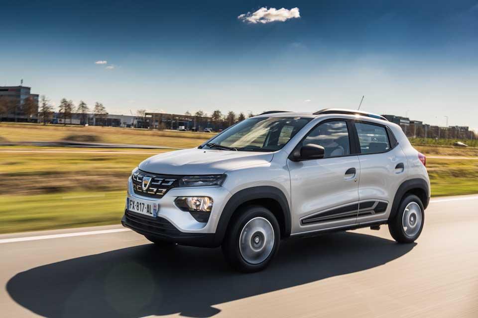 Dacia Spring Electric op de weg