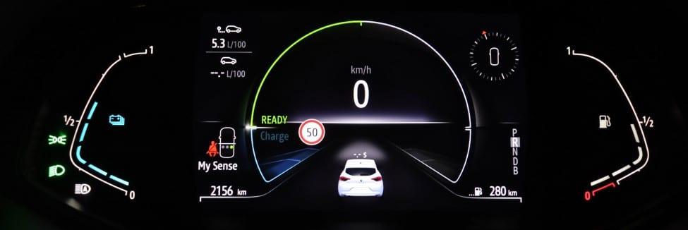 Clio E-TECH Hybrid dashboard