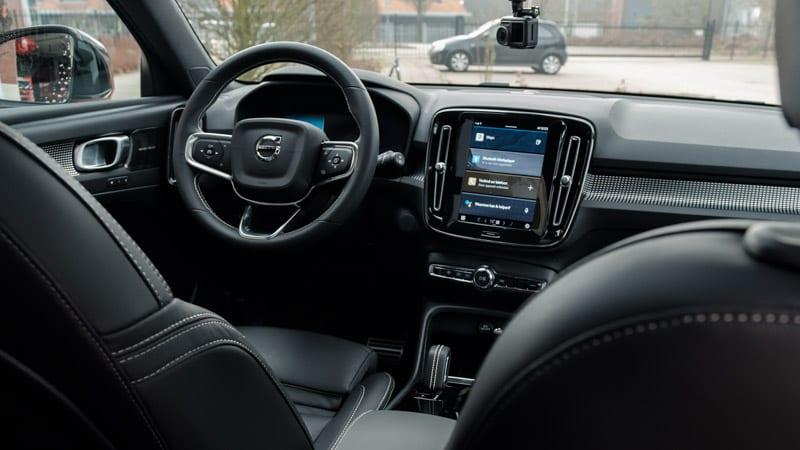 interieur Volvo XC40 EV zwart
