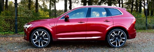 Luchtvering Volvo XC60 Recharge in de laagste stand