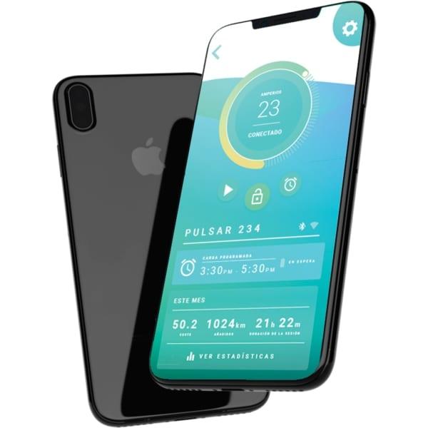 myWallbox app op telefoon weergegeven