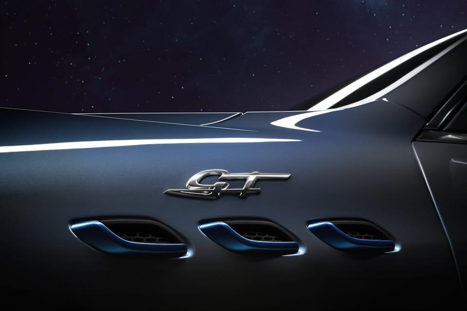 GT logo, Maserati ventilatieroosters