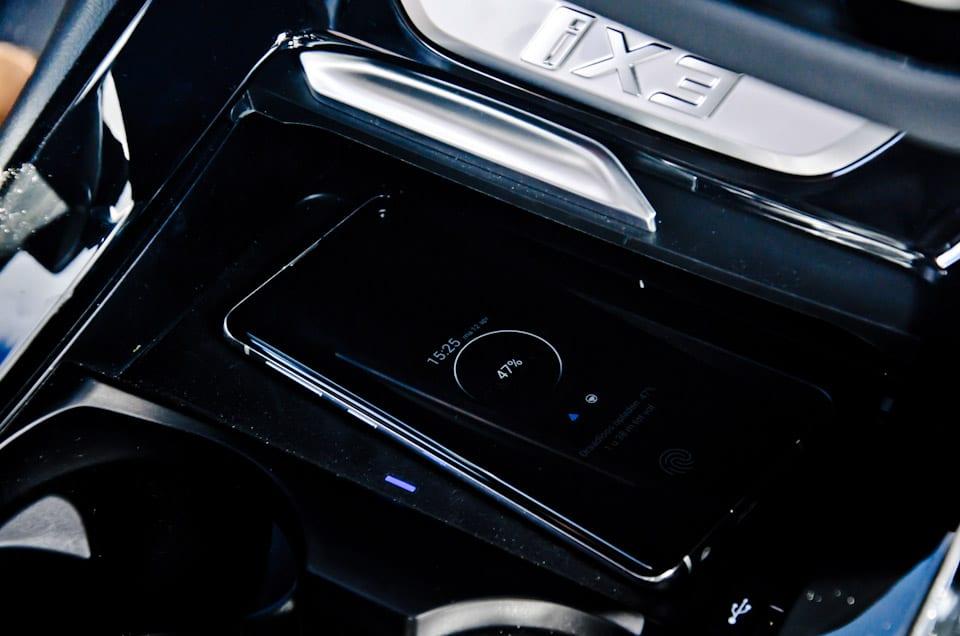 Samsung Galaxy, draadloos opladen in auto, iX3