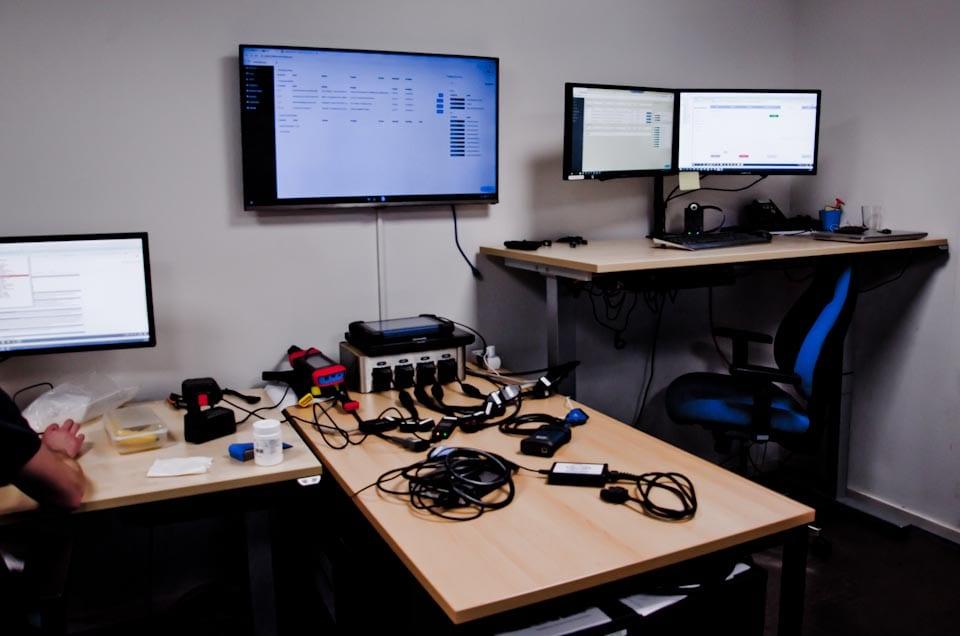 De Remote Diagnostics ruimte van EDGe Mobility Helpdesk