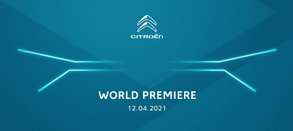 World Premiere Citroën, geometrisch design, koplampen en front grille