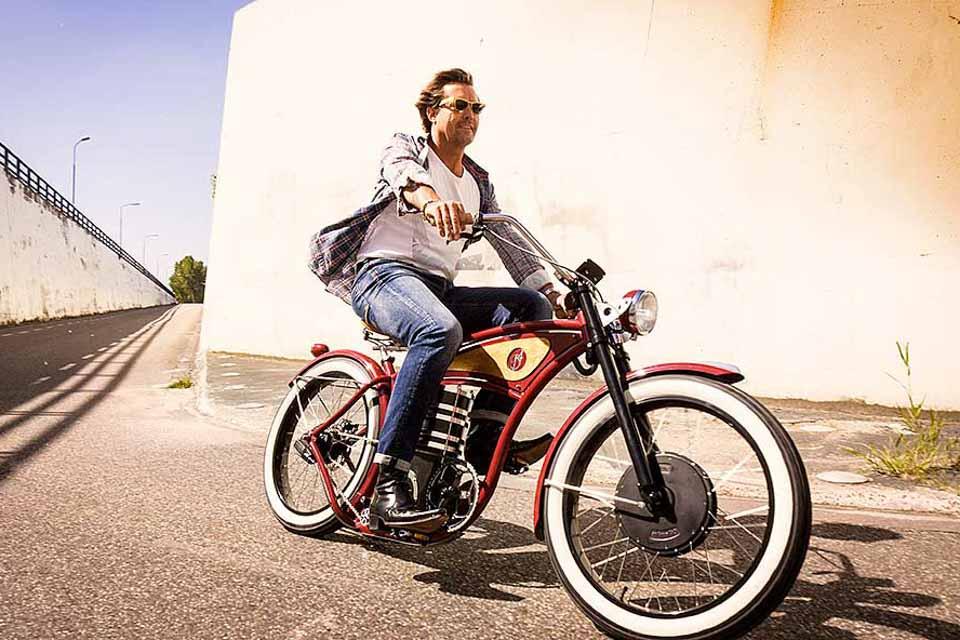 B4 E-Cruizer, Indian Red, elektrische fiets, elektrische mobiliteit