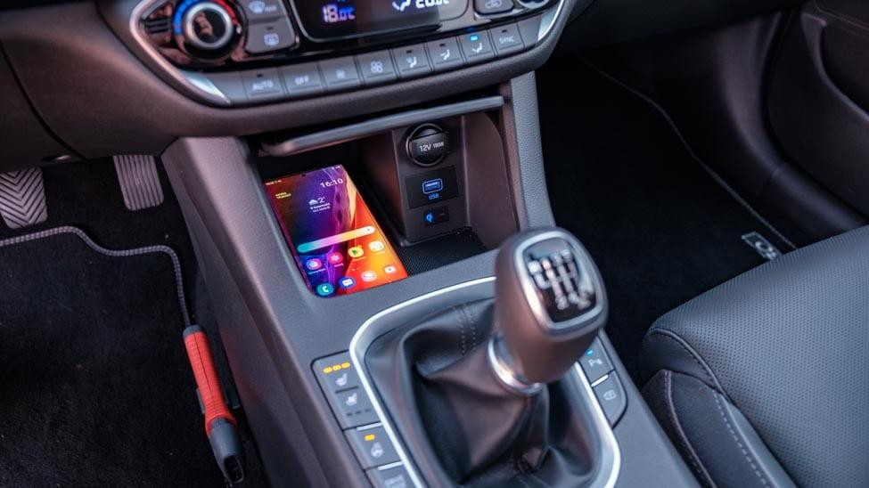 2021 Hyundai i30 Samsung Note20 Ultra draadloos opladen