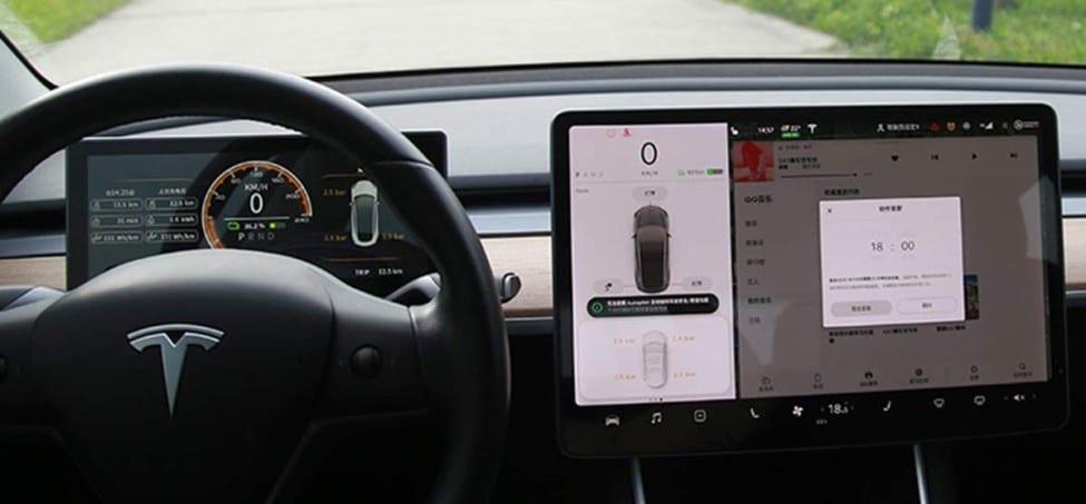 Instrumentenpaneel Tesla dashboard