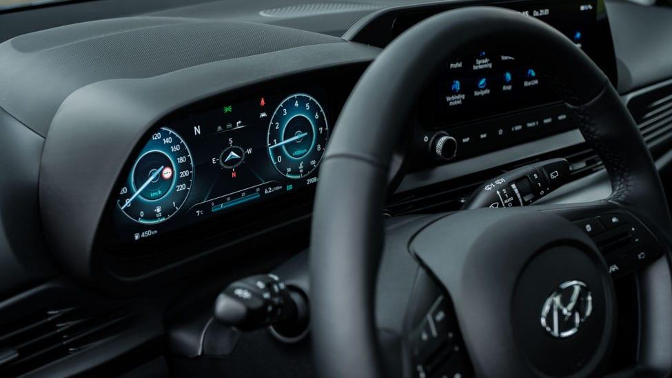 het volledig digitale dashboard van de i20