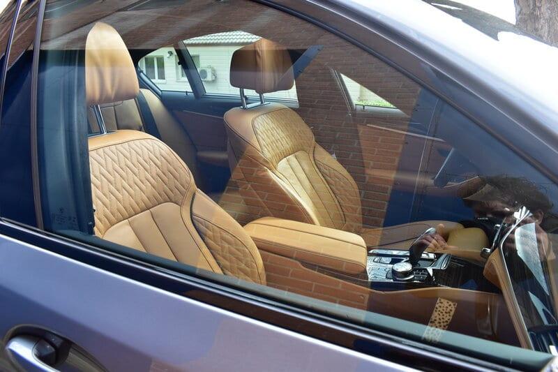 Lederen bekleding van de BMW 5 Serie