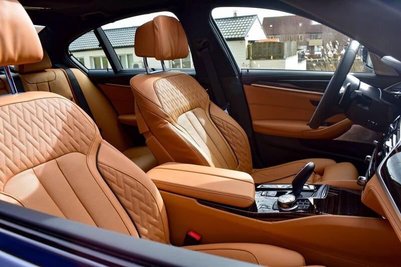 Lederen bekleding Caramel van de BMW 5 Serie