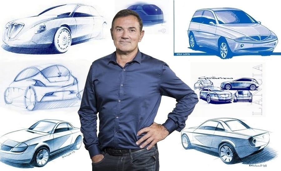 Jean-Pierre Polué, diverse designtekeningen van Lancia's, Ypsilon, Thesis, Fulvia