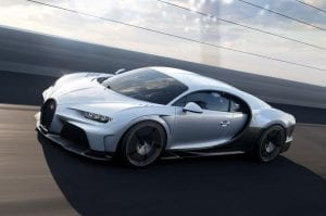 De Bugatti Chiron Super Sport op snelheid